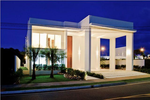 15 fachadas de casas com portas de entrada pain is altas - Entradas de casas ...