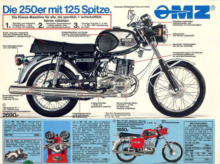 MZ Motorräder (DDR) im Neckermann-Katalog (BRD)