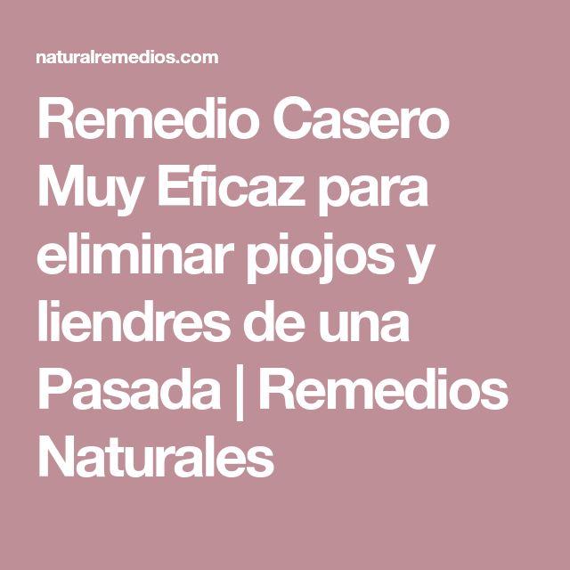 Remedio Casero Muy Eficaz para eliminar piojos y liendres de una Pasada | Remedios Naturales