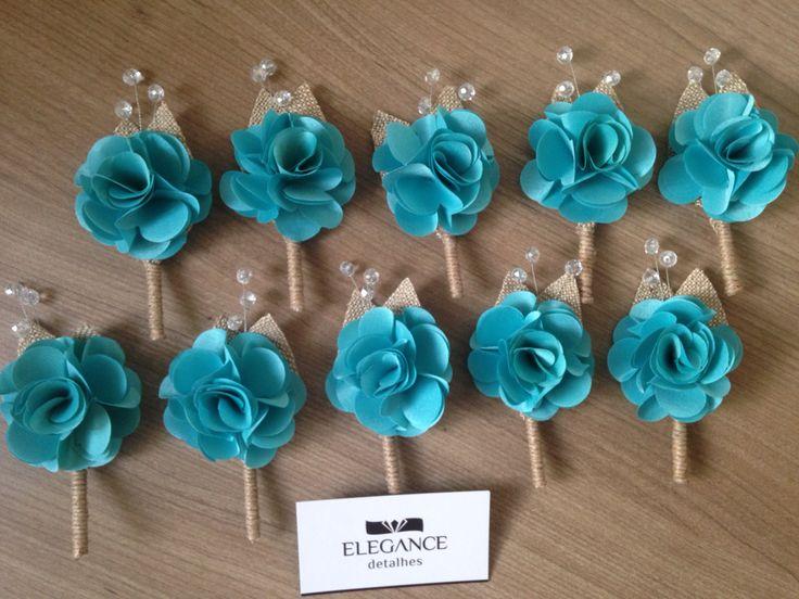 Flor de lapela rústica Confeccionamos as flores na cor de sua preferência!