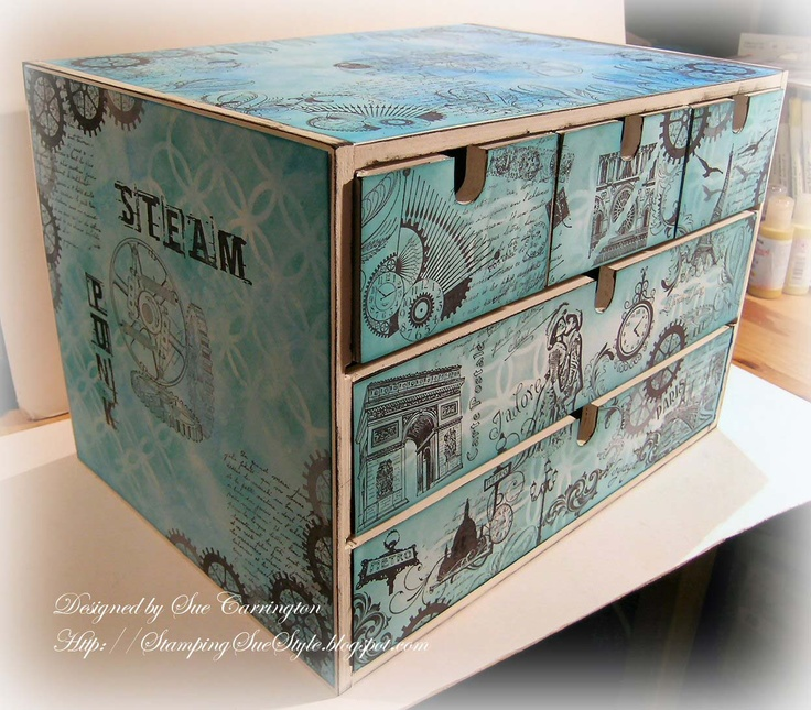 Stamping Sue Style: Altered Drawers !