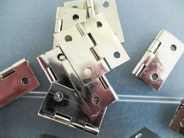 Boxes Cases Square Silver Hinges 25mm for small boxes, cases or handmade books #Jaszitupleatheraccents
