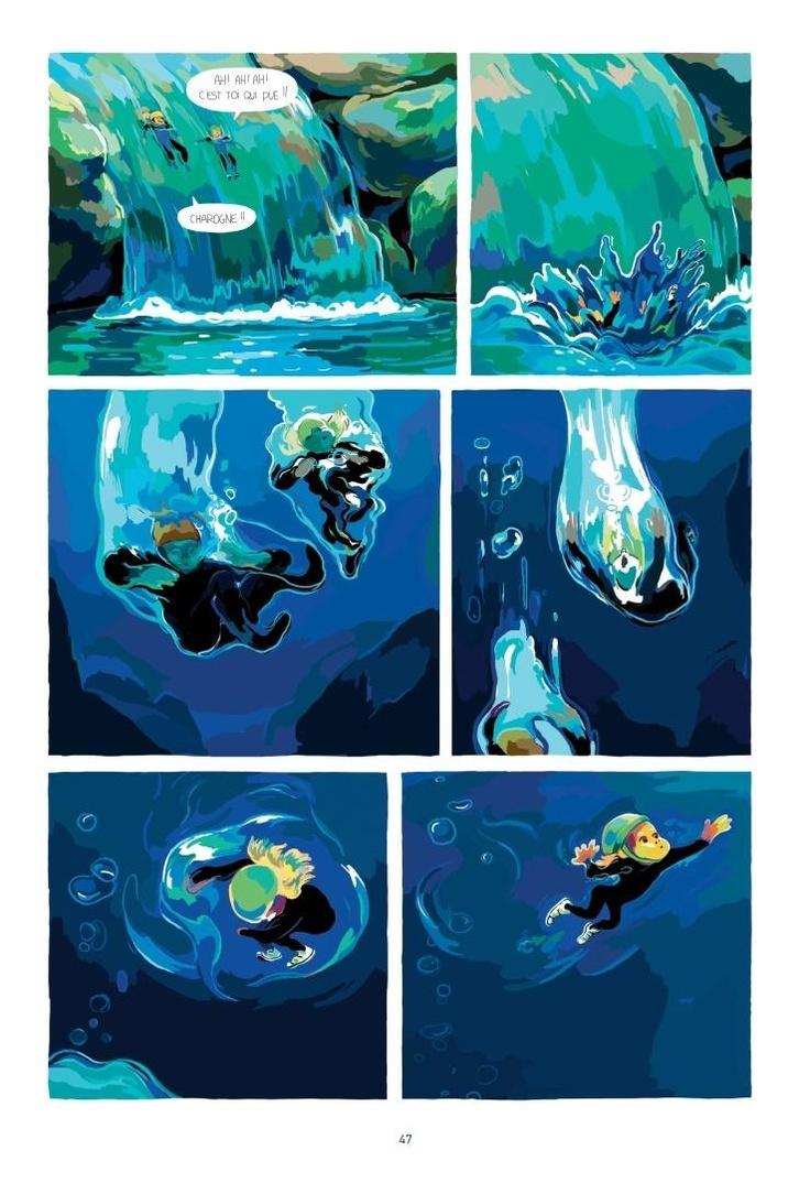 voyeur vacance Audrey Spiry, un peu de bd sous l'eau