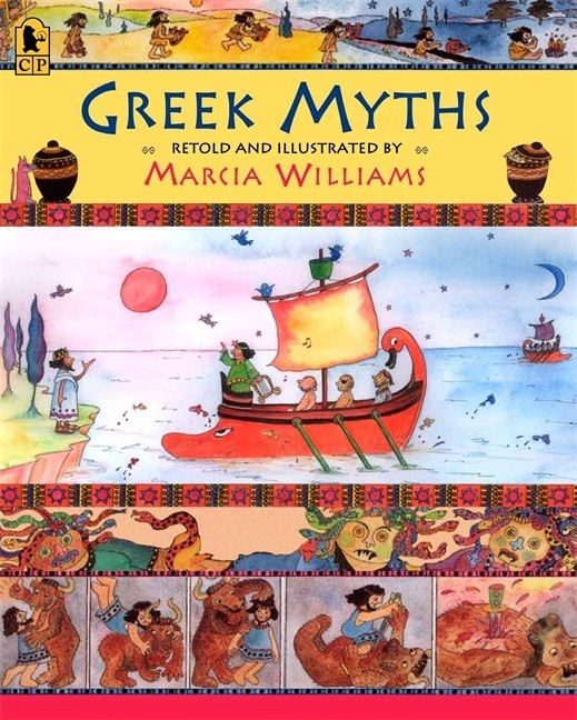 """#commoncore Greek myths are among the most exciting stories ever told. In this collection, Marcia Williams offers a fun but faithful retelling of eight myths using simple language and her signature comic-strip format. This indispensable collection is the perfect way to introduce young readers to the power of myth. """"Even reluctant readers (let alone closet classicists) will be drawn to pore over these entrancing pages. -School Library Journal PB 9780763653842 Ages 5-9, GRL P"""
