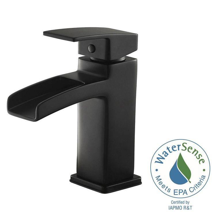 Pfister Kenzo Single Hole Single-Handle Bathroom Faucet in Matte Black