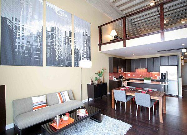 stylish loft interior design