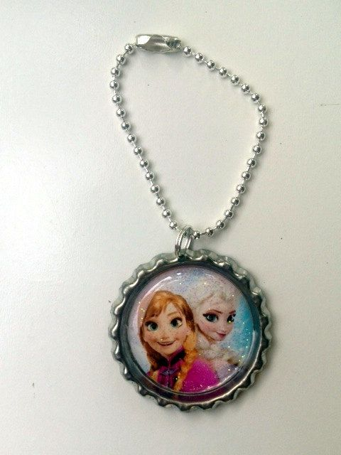 FROZEN School Backpack Tag Keychain by OliverandMay on Etsy, $4.85