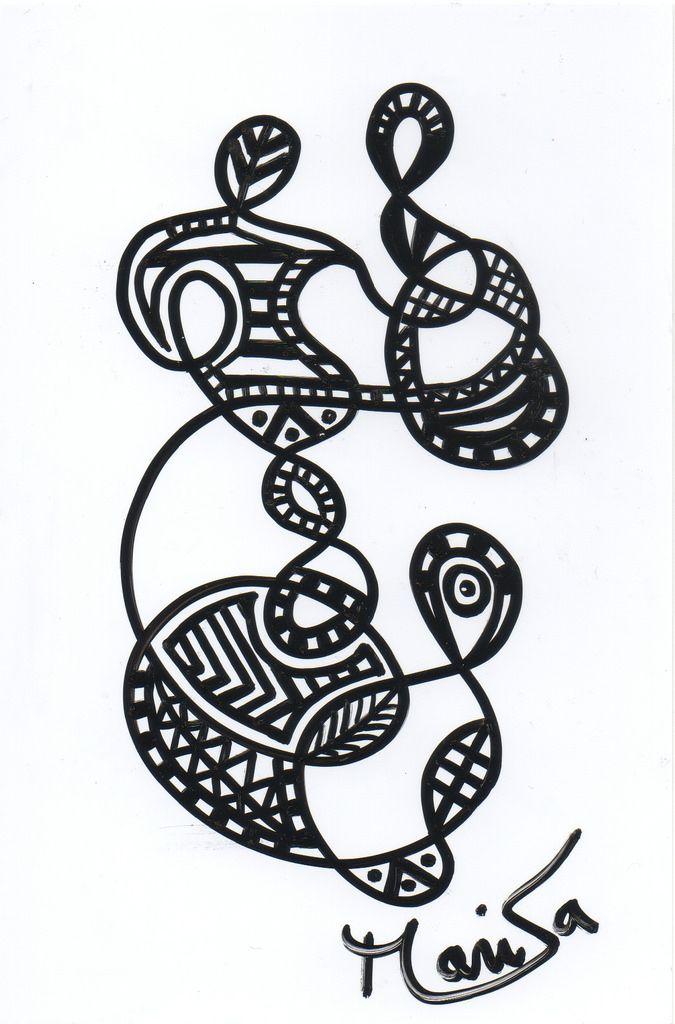 castro dessin 5 Fait en 1 exemplaire unique au marker noir sur papier photo 10x15 ©Marisa Castro #france 2015
