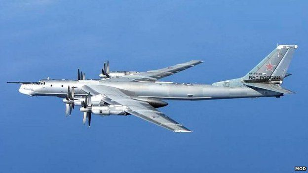 "Russian military planes flying near UK airspace caused ""disruption to civil aviation"" on Wednesday, the Foreign Office has said. It said the two Russian planes did not enter UK airspace.The planes were ""escorted"" by RAF jets. Russia's ambassador has been summoned to ""account for the incident"". The Russian planes - two Tu-95 Bear H bombers - came within 25 miles of the UK. They travelled from the north, past the west coast of Ireland and to the English Channel before turning and going back."