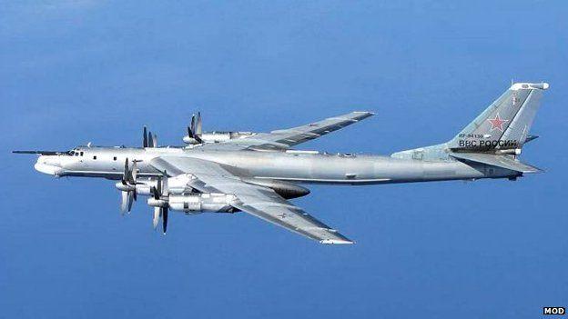 RAF jets scrambled after Russian bombers seen off Cornwall A Russian Tu-95 Bear 'H' aircraft