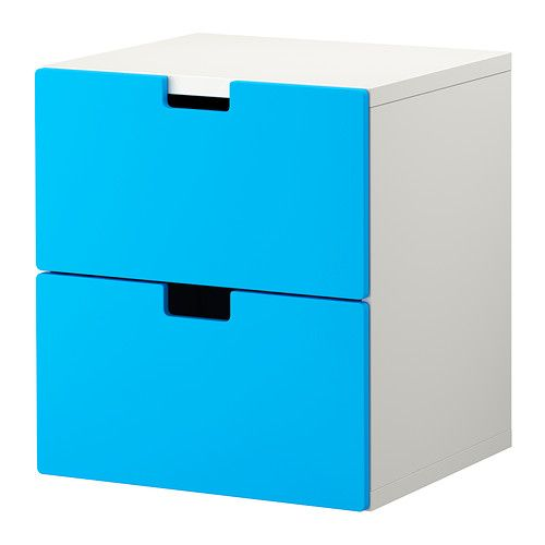 STUVA Chest of 2 drawers IKEA Low storage makes it easier for children to reach…