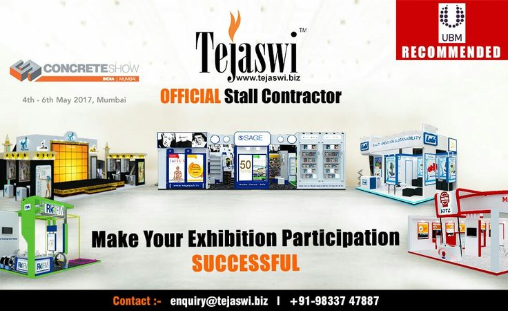 #concreteshow  #officialstandcontractor #Mumbai #Construction #comcretebricks #cement #decking #deckingsheets # excavators #earthmovingequipment #concretetestingequipment # admixtures #sealant # waterproofing #mortar #floorstand #smartbuildtech #constructiontools #constructionequipments #concreteshow #diamondblade # drill #drill...Get Your Concrete Show Booth Fabricated ... mail at enquiry@tejaswi.biz ..http://tejaswi.biz/exhibition/concrete-show-official-exhibition-booth-designer-mumbai