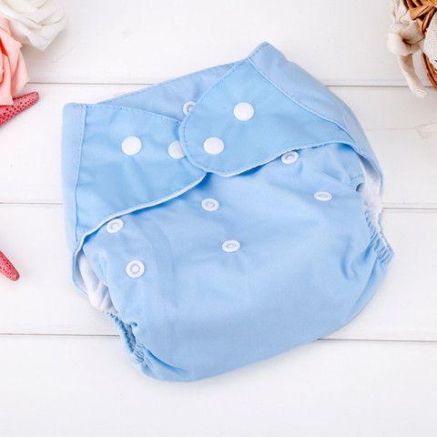 Reusable Cloth Diaper Washable Adjustable Snap Closure Nappy Diaper Cover $4.99 CAD