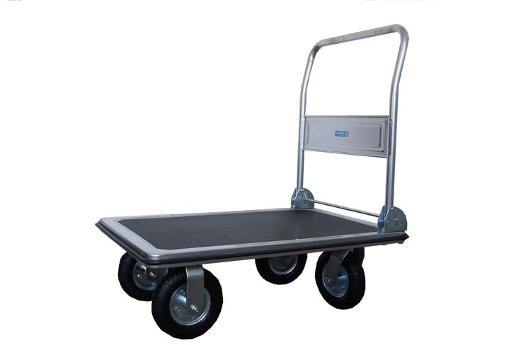 Plattformwagen 300 kg luftbereift Transportwagen Handwagen Transportkarre | eBay