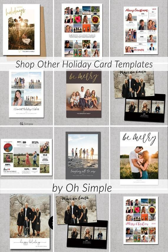Christmas Card Collage Templates Best Of Holiday Card Template Christmas Card Collage Holiday Card Template Minimalist Christmas Card