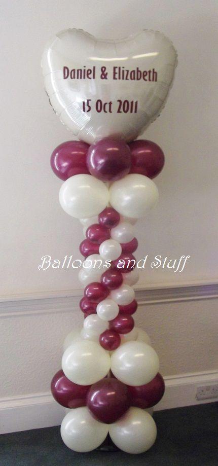 Personalised Balloon Floor Column