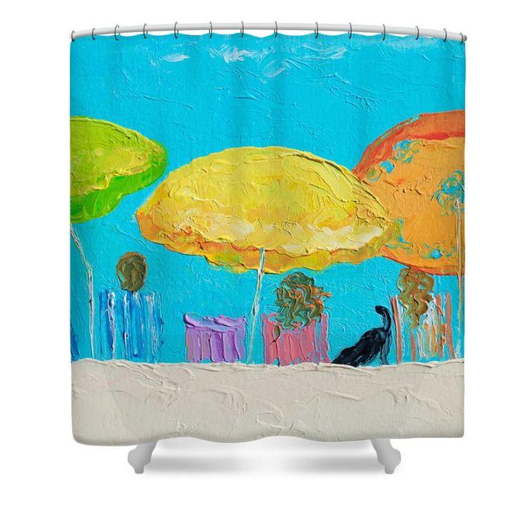Beach Art - Sunny Day Shower Curtain#showercurtains #bathroomaccessories #bathroomdecor #showerscreen