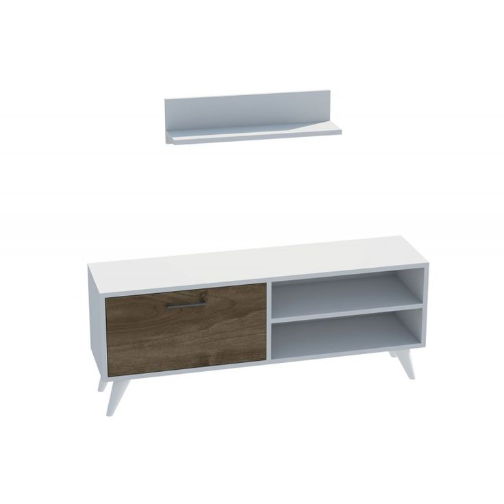TV stand Party TV Unit white 30x120x48