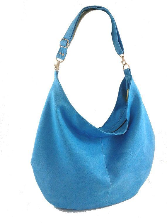 Women handbag Hobo bag Suede purse Modern bag Bag by Torebeczkowo