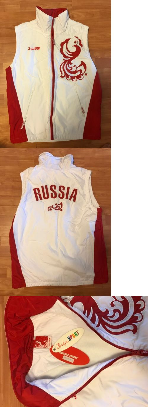 Vests 179012: Bosco Vest Jacket New W Tags Sport Russian Russia Olympic Team Sochi Large -> BUY IT NOW ONLY: $89 on eBay!