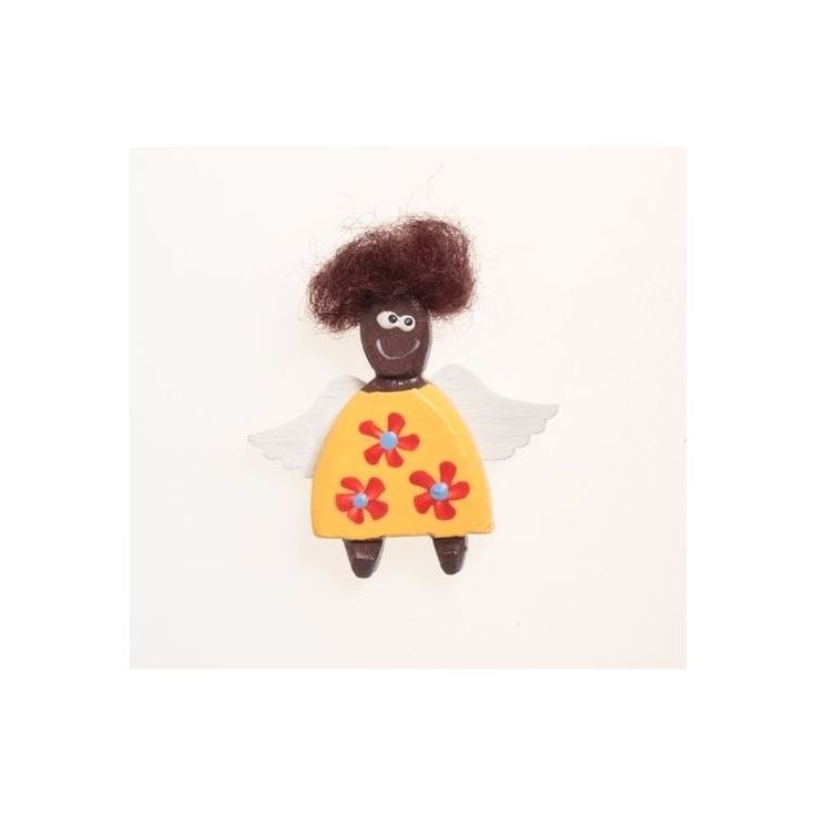 African Angel-Girl Magnet - 3,5 cm African Angel-Girl Magnet - 3,5 cm