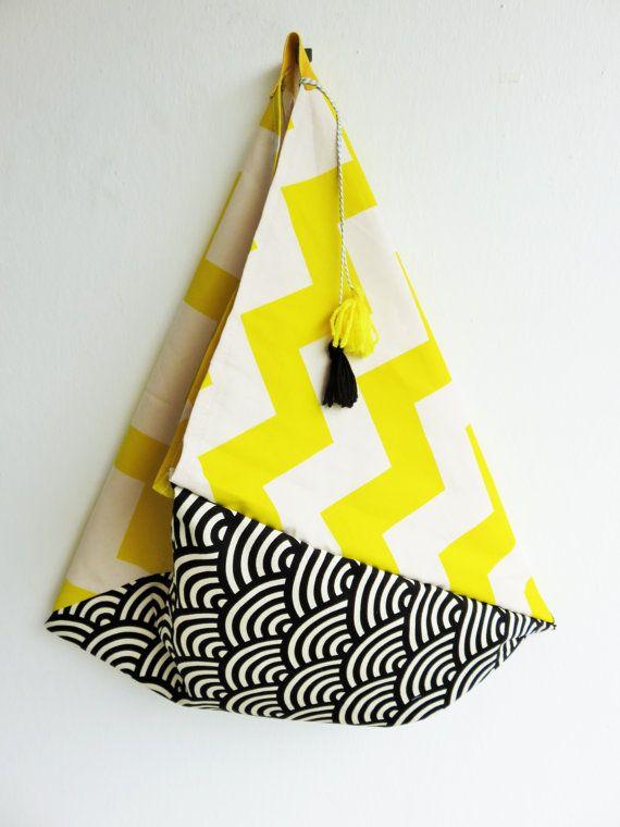 japan tote bag japanese fabric cotton canvas bag bento by JIAKUMA