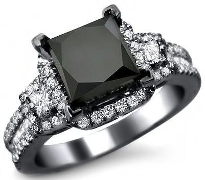 17 Best ideas about Black Gold Engagement Rings on Pinterest