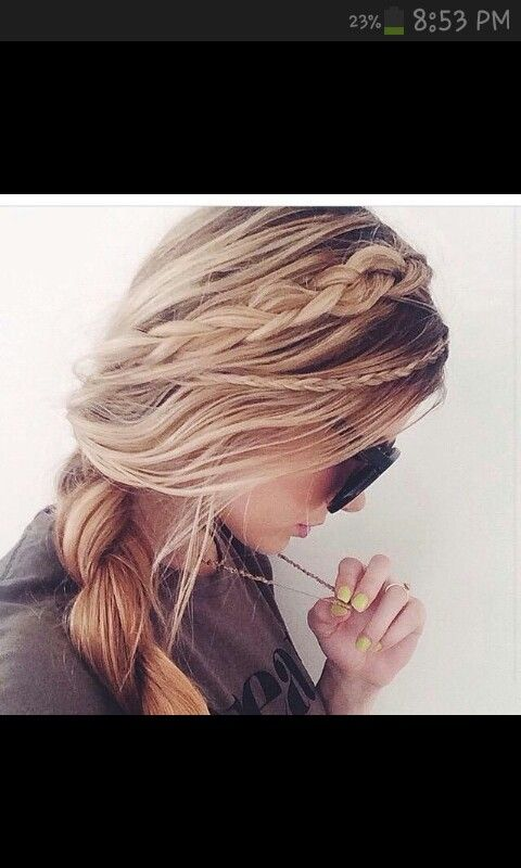 Boho braid, heatless hairstyles, (small braid...medium braid...big side braid)