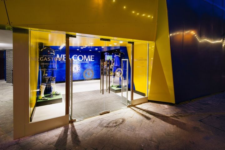 Chelsea FC Megastore by Schwitzke & Partner at Stamford Bridge Stadium, London - UK