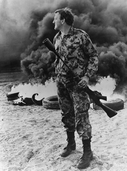 A South African soldier holding a tear gas grenade launcher during rioting near Cape Town South Africa 15th September 1976 The unrest comes in the...