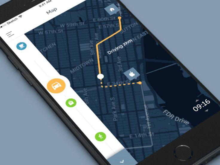 Map/Location UI Inspiration — Muzli -Design Inspiration — Medium