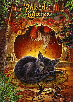 Greetings Card suitable for the winter solstice and pagan festival of Yule.