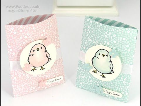 Stampin 'Up! Démonstrateur Pootles - Aquarelle Chick Treat Sacs Tutorial