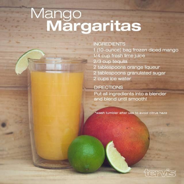 Mango Margaritas - sounds yummy!