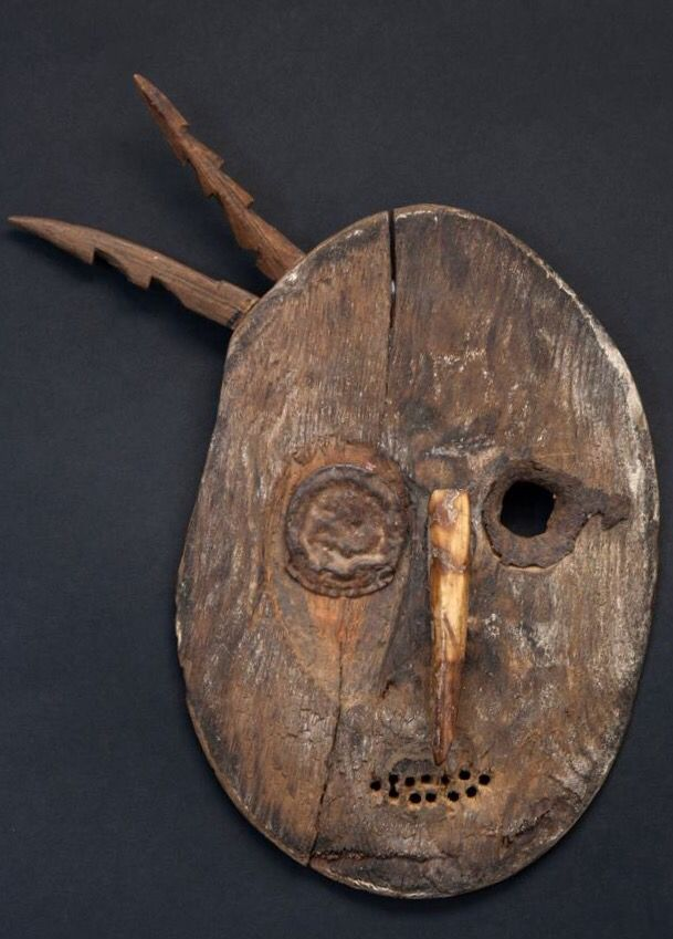 Mort Golub, tribally inspired masks and figures, made mostly from found objects such as, iron, wire and nails, Inuit artifacts, wood, machine parts, etc.