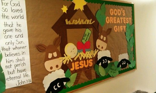 Church Bulletin Board Ideas | Church Bulletin Board Ideas / December's bulletin board