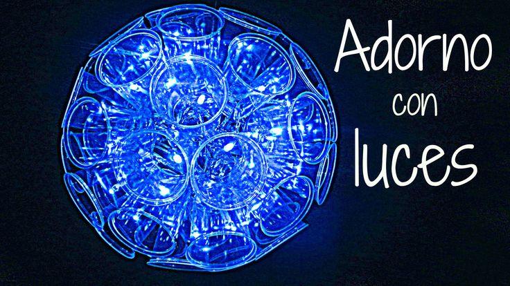 Cómo hacer una lámpara con vasos. How to make a lamp