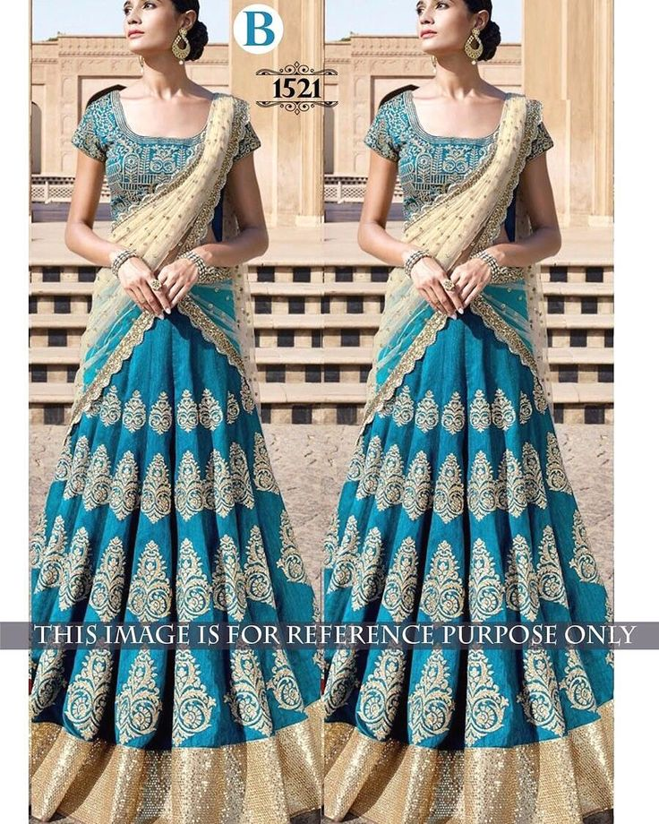 Turquoise Embroidered Designer Lehenga Choli  Product Details : Code : 1521 LEHENGA :BENGLORY SILK BLOUSE :BENGLORY SILK DUPATTA : NYLONE NET INNER : SATTIN SILK TYPE : LEHENGA CHOLI WORK : MULTY/SEQUNCE/HAND  Price : 2400 INR Only ! #Booknow  World Wide Shipping Available !  PayPal / WU Accepted  C O D Available In India ! Shipping Charges Extra  Stitching Service Available  To order / enquiry  Contact Us : 91 9054562754 ( WhatsApp Only )