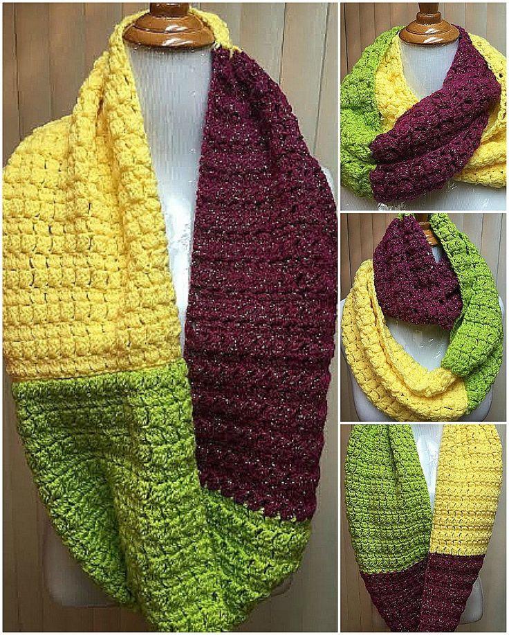 54 best Crochet Infinity Scarves images on Pinterest ...