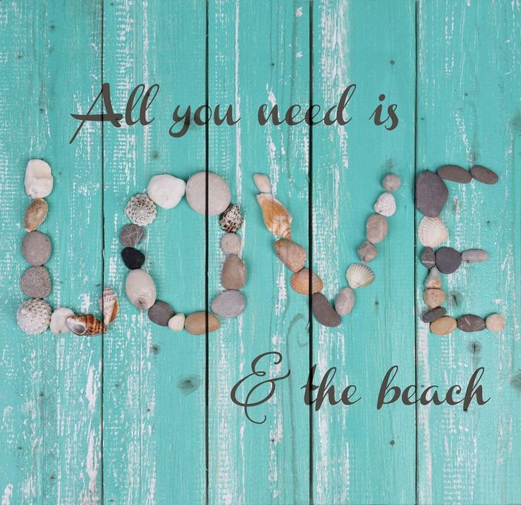 """Hand-assembled with a weathered, nautical look, this Pallet Wall Sign will bring joyful reminder of the ocean, beach or any summertime vacation. """"All you need is Lover & the beach"""" - measures 24"""" x 24"""