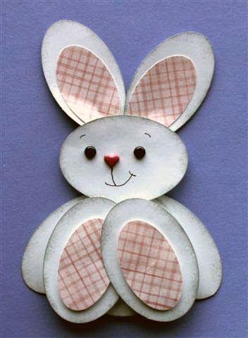 пасхальный кролик поделка из бумаги аппликация