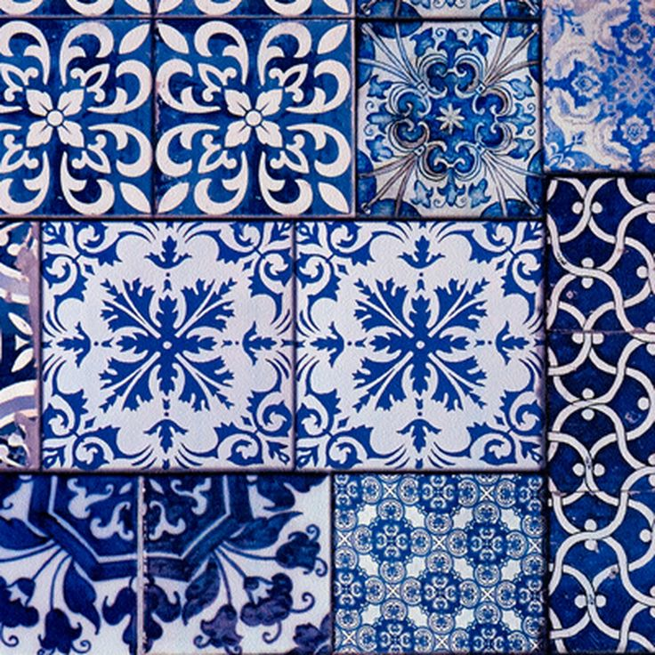 Intissé LISBOA coloris bleu indigo - Papier Peint - 4murs