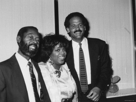 Oprah Winfrey with Boyfriend, Stedman Graham and her dad