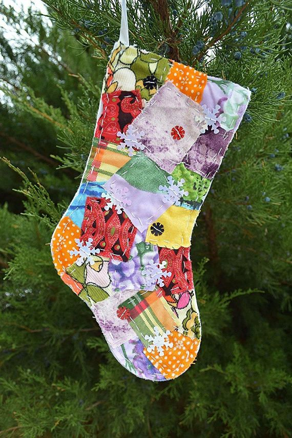 Christmas Stocking stockings Christmas ornaments family stocking Holiday gift holidays Decoration Santa stockings Xmas decor ornament  Looking for the perfect Christmas stocking to stuff...how about our colorful patchwork Christmas stocking? Create your personal style in your festive holidays house.