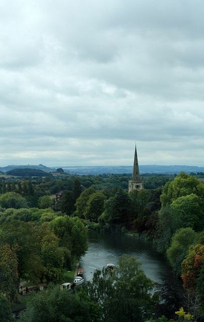 View over Stratford Upon Avon, England.  Wonderful trip with classmates so long ago.