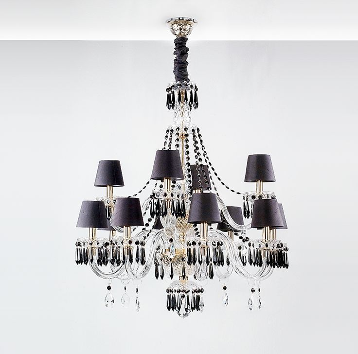 BLACK DIAMOND   Chandelier With 2 Levels And 12 Arms