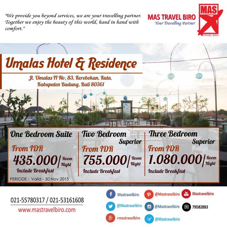 Nikmati Suasana Bali dengan Menginap di Umalas Hotel & Residence Kuta *4 , Mulai dari Rp 435.000/Malam , Pesan Sekarang Juga ! :) #bali #hotel #promo #indonesia