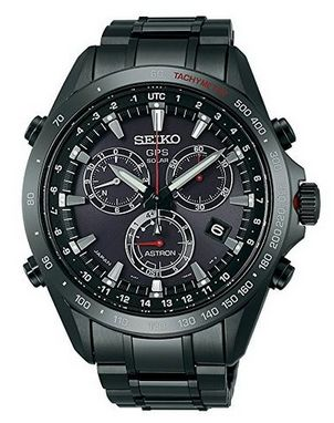 New_Seiko_Astron_Solar_GPS_Black_PVD_Stainless_Steel_Men's_Watch_SSE031