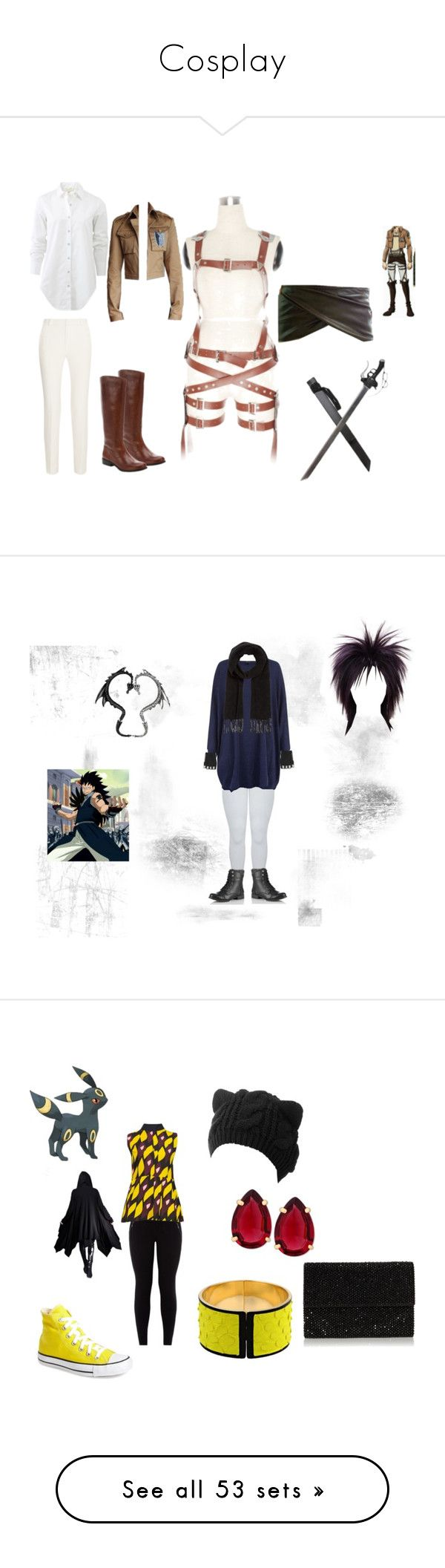 """""""Cosplay"""" by destiny-demon ❤ liked on Polyvore featuring rag & bone, Roland Mouret, Ciao Bella, Majesty Black, Comptoir Des Cotonniers, Wigs2You, men's fashion, menswear, Converse and New Look"""