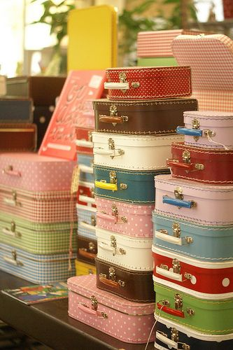 Colorful Cardboard Suitcases